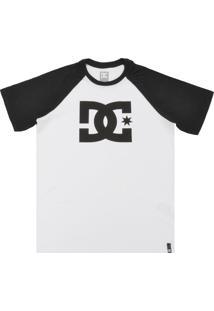 Camiseta Dc Shoes Logo Branca/Preto