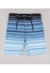 Bermuda Surf Infantil Listrada Azul