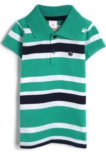 Camiseta Marisol Menina Listrada Verde