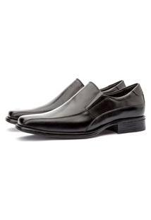 Sapato Social Liso Loafer Esporte Fino Torani Conforto Couro Preto