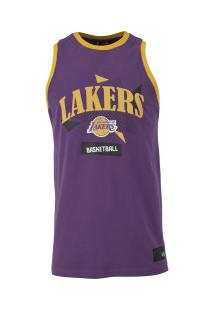 Camisa Regata New Era Los Angeles Lakers Basketball - Masculina - Roxo
