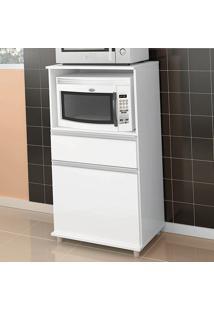 Armário De Cozinha Para Forno 1 Porta 1 Gaveta Asm 142 Branco - Móvel Bento