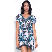 d2f17bbecf80 Blusa 101 Resort Wear Estampada Floral Azul