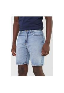 Bermuda Jeans Guess Reta Lisa Azul