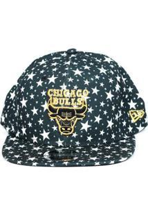 Boné Chicago Bulls New Era 9Fifty Star - Masculino-Preto+Branco c808a2ed407