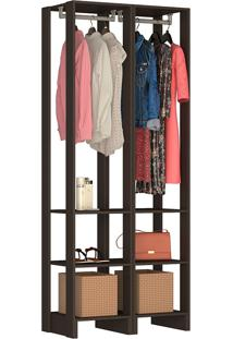 Guarda-Roupa Modulado Closet 105105 - Nova Mobile - Grafite Intenso