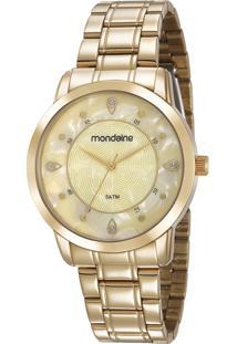 Kit De Relógio Analógico Mondaine Feminino + Colar - 83429Lpmvde1Ke Dourado - Único