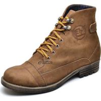 cb5d90cd53 Bota Coturno Casual Masculino Top Franca Shoes Caramelo