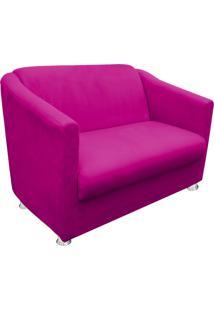 Namoradeira Decorativa Tilla 2 Lugares Suede Pink - D'Rossi