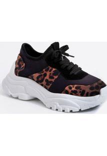 Tênis Feminino Chunky Sneaker Animal Print Zatz