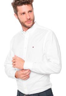 Camisa Tommy Hilfiger Masculina Custon Fit Oxford Branca