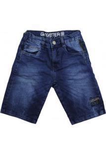 Bermuda Jeans Infantil Gangster Menino