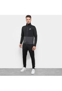 Agasalho Nike Sportswear Masculino - Masculino-Preto+Cinza