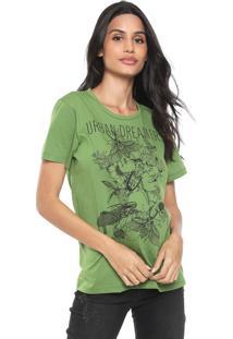 Camiseta Colcci Urban Dreamers Verde