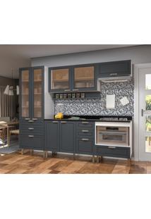 Cozinha Compacta Nevada Iii 7 Pt 7 Gv Branca E Grafite