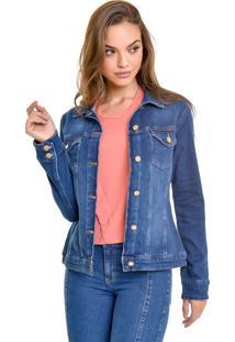 Jaqueta Jeans Lemier Collection Com Botãµes Na Frente - Jeans - Feminino - Algodã£O - Dafiti