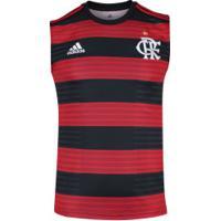 Camiseta Regata Do Flamengo I 2018 Adidas - Masculina - Vermelho Preto 9838b481146