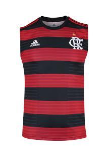 Camiseta Regata Do Flamengo I 2018 Adidas - Masculina - Vermelho Preto 4b127889e04bb
