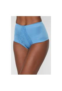 Calcinha Dilady Hot Pant Redutora Azul