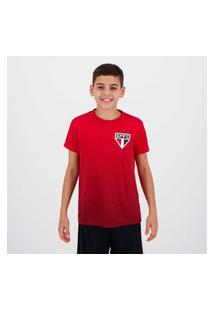 Camisa Sáo Paulo Bryan Juvenil Vermelha