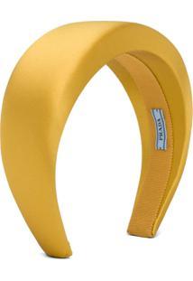 Prada Satin Headband - Amarelo