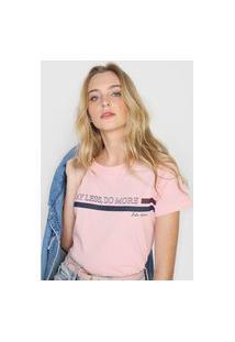 Camiseta Polo Wear Say Less, Do More Rosa