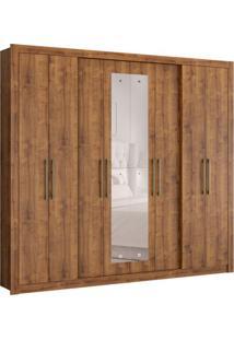 Guarda-Roupa Casal Com Espelho Hester 8 Pt 4 Gv Native