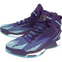 Dafiti. Tênis Adidas Performance D Rose Boost Primeknit Roxo Verde 95bd5a8e02912