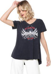 Camiseta Carmim Wheels Azul-Marinho