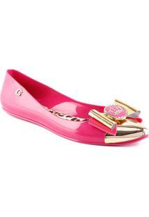 Sapatilha Com Laã§O- Pink & Douradacarmen Steffens