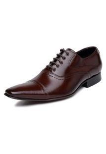 Sapato Bigioni Social Cadarço Couro Marrom
