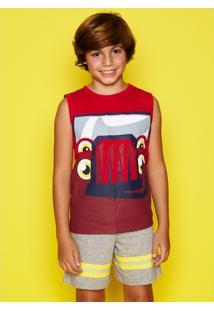 5598734541d642 Pijama Infantil Puket Curto Regata Bombeiro - Masculino
