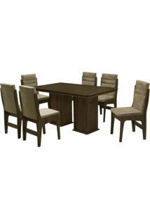 Conjunto De Mesa & Cadeiras Amsterdam Para 6 Lugares- Cadobuê