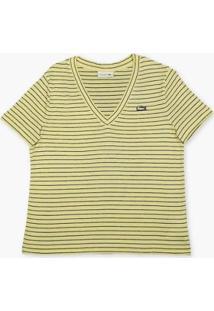 Camiseta Lacoste Feminina - Feminino-Amarelo+Azul