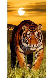 Toalha De Praia Tiger Sunset- Bege Escuro & Verde- 7Buettner