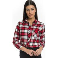 bd957f9f41 Camisa Xadrez Vermelha Feminina Principessa Thalita