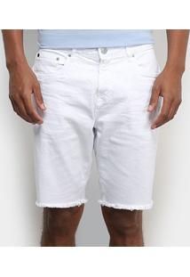 Shorts Jeans Calvin Klein Barra Desfiada Masculino - Masculino