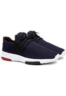 Tênis Sneaker Masculino Calce Fácil Leve Conforto - Masculino-Azul