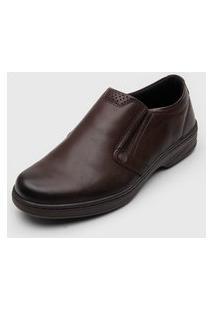 Sapato Pegada Recortes Marrom