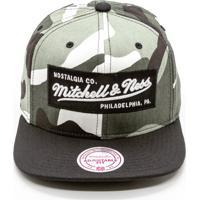 5cbf7a8676 Boné Mitchell & Ness Box Logo Branded Snapback Preto