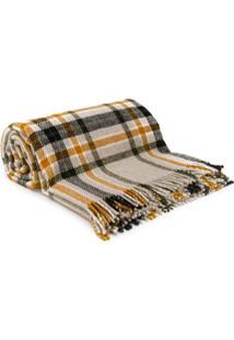 Holland & Holland Cobertor Xadrez - Cinza