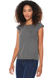 Camiseta Lunender Listras Cinza/Cobre