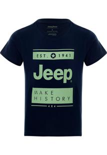 Camiseta Infantil Jeep Block Azul Marinho