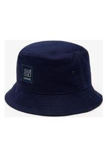 Chapéu Lacoste Logo Náutico Masculino - Masculino-Azul Navy