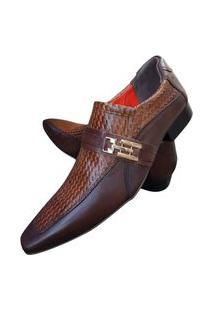 Sapato Masculino Italiano Social Executivo Em Couro Art Sapatos Marrom