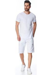 Bermuda Jeans Zait Tradicional Victor Masculina - Masculino-Branco