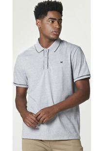 Camisa Básica Polo Manga Curta Masculina Em Malha