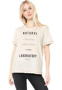 Camiseta Colcci Laboratory Bege