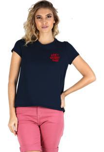 T-Shirt Its&Co Worry Azul Marinho - Azul Marinho - Feminino - Dafiti