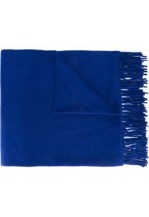 Études Cachecol Com Franjas - Azul